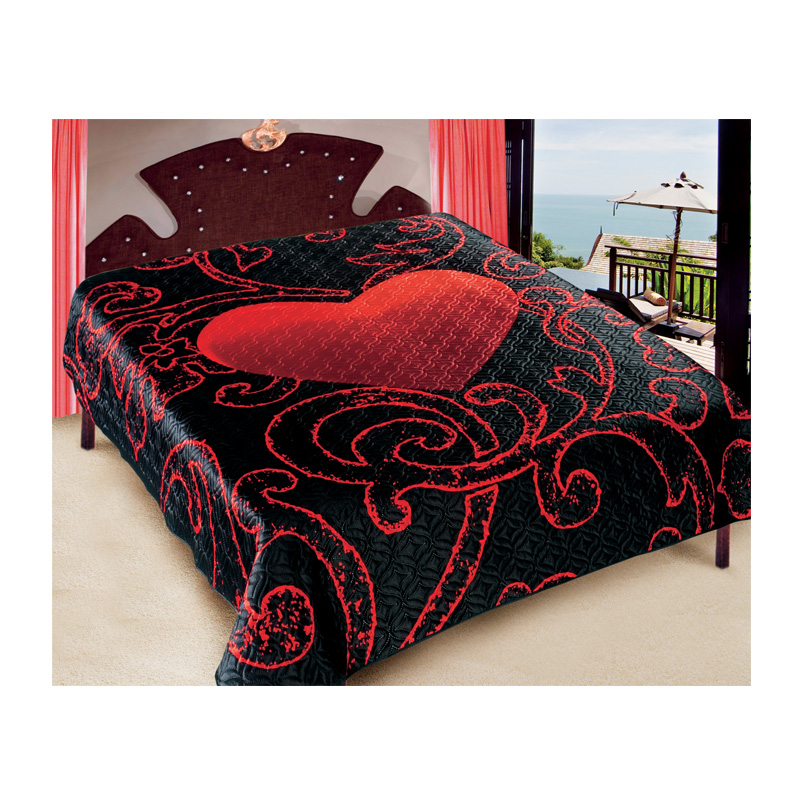tagesdecke leidenschaft 200x220 cm bett berwurf ee. Black Bedroom Furniture Sets. Home Design Ideas
